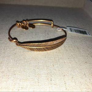 Alex and Ani feather bracelet.